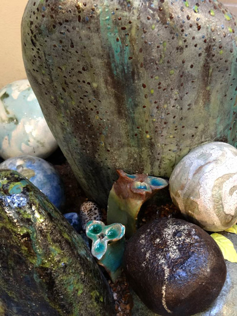 Detail: Rocks and Floral Extrusions.